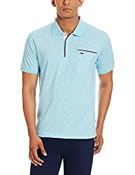 Park Avenue Mens Polo (8907575370465_PCKA00513-B3_42_Medium Blue)