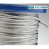 Cuerda de alambre de acero cable de metal galvanizado Flexible fuerte alta calidad 100metros