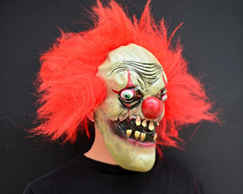 Unheimlich gruselig Halloween Clown böse Kostüm Latex-Maske - Hobo clown