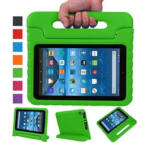 NEWSTYLE Fire 7 2015 Tablet Hülle Eva Stoßfeste Schutzhülle Tragbar für Kinder mit Ständer Schutzhülle Standfunktion für Amazon Fire 7.0 Zoll (5. Generation - 2015 Modell) Tablet,- Grün