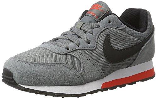 Nike Jungen 807316-006 Turnschuhe, Grau (Cool Grey/Black/Max Orange/White), 38.5 EU (Orange Nike-schuhe Für Kinder)
