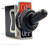 wellenshop 12V 24V Kippschalter 15A ON-OFF wasserdicht Schalter