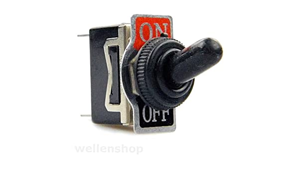wellenshop 2 x 12V 24V Kipphebelschalter 15A on-Off 2 Kontakte wasserdicht