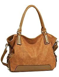 JOYSON Handtaschen Damen Hobo Taschen PU Leder Schultertaschen Große  Umhängetaschen Shopper Damen Henkeltaschen… ab61906fb0