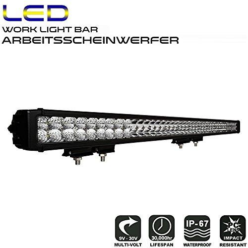Objektiv-halogen-licht (AFTERPARTZ D4 LED Arbeitsscheinwerfer Bar Neue Reflektor-Lichtschale OSRAM Chips 34000LM Combo Scheinwerfer Arbeitslicht (50