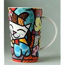 BRITTO Porzellanbecher - Katze - Pop Art Kunst aus Miami #334439