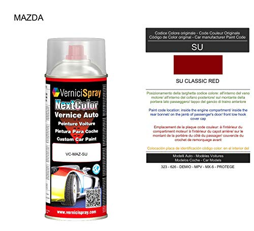 VerniciSpray Ausbesserungslack SU CLASSIC RED im Spray, 400 ml
