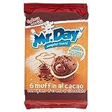 Mr. Day Muffin al Cacao con Pepite di Cioccolato - 6 Pezzi da 42 gr