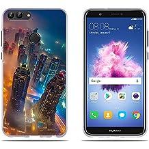 DIKAS Funda Huawei P Smart/Enjoy 7S, Flexible Resistente a Los Arañazos en su