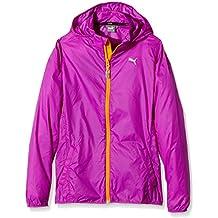 PUMA chaqueta con capucha para niños Active rapid cortavientos G morado morado (Purple Cactus Flower) Talla:140