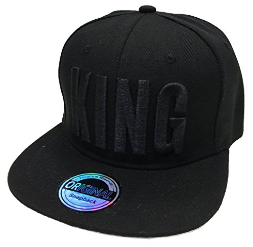 *King & Queen SNAPBACK Set USA Cap Kappe Basecap Mütze Trucker Cappy Kult Partner Look (King Black Edition)*