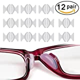 Rutschfeste Nasenpads, 12 Paar 2,5 mm Non-slip Silicone Nose Pads Adhesive für Brillen Sonnenbrille Lesebrille Pads, Transparent