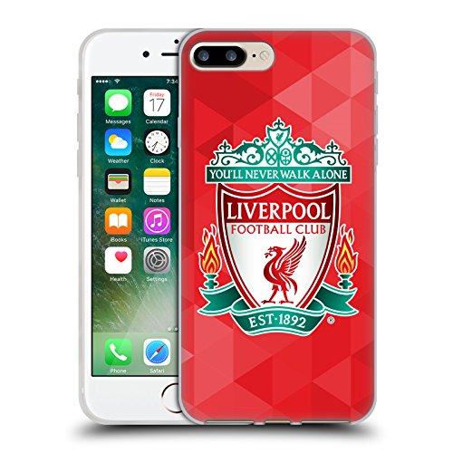 Offizielle Liverpool Football Club Schwarz 2 Crest 1 Soft Gel Hülle für Apple iPhone 6 / 6s Rot Geometrisch 1