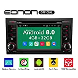 eonon Android 8 fit Audi A4 S4 RS4 Seat Exeo 17,8cm 7' LCD 2Din Indash Car Digital Audio Video Stereo Autoradio Touchscreen CD DVD GPS Bluetooth FM RDS support DAB+ WiFi 4G OBD2 Headunit GA9158A