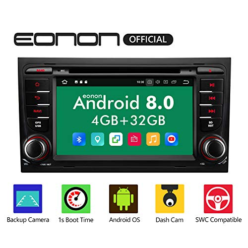 Eonon Android 8 fit Audi A4 S4 RS4 Seat Exeo 17,78cm 7