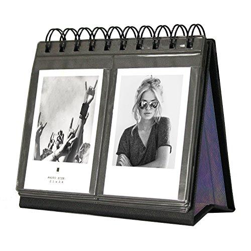 Amazing funktioniert 68Taschen Schreibtisch Kalender Album für Fuji Instant Mini 707S 82550s 90, Polaroid Z2300, Polaroid pic-300p Film schwarz - Umbra-foto-album