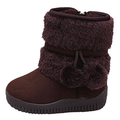 CCZZ Chica Calentar Botas De Nieve Niños Invierno Botines Ante Anti-deslizante Zapatos Botas de Trabajo