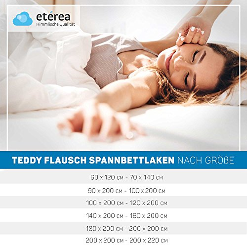 Etérea Teddy Flausch Kinder Spannbettlaken, Spannbetttuch, Bettlaken 6 Größen 18 Farben, 60x120-70x140 cm, Rot - 6