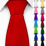 Klassische Krawatte inkl. Anleitung breit viele Farben Satin Schlips Herren