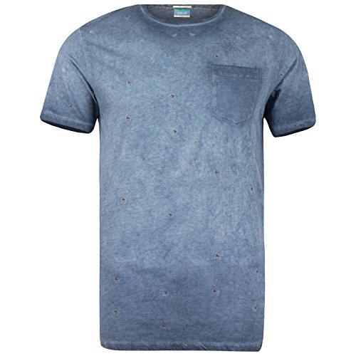 Khujo Herren T-Shirt Herrenshirt Navy