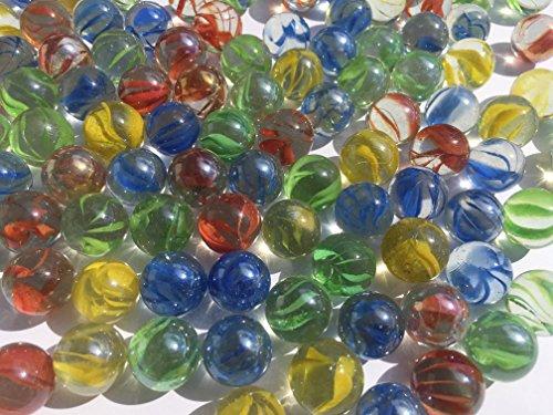 Preisvergleich Produktbild Bunte Glasmurmeln Glaskugeln16mm Durchmesser über 1kg Dekokugeln Murmel Dekoration Glaskügelchen bunt von CRYSTAL KING