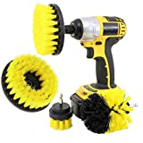 gancunsh Bohrerbürstenreiniger-Sets, Power Scrubber Drill Powered Cleaning Brushes Attachments for Cleaning Car Tires Carpet Mörtel Tub Kitchen & Bathroom Yellow 3 PCS