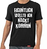 #KARNEVAL: Original HARIZ® Collection T-Shirt // 36 Designs wählbar // Schwarz, S-XXL // Fasching I Halloween I Altweiberfastnacht I Verkleidung #Karnveal10: Nackt kommen M