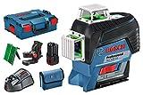 Bosch Professional Laser Lignes GLL 3-80 CG (1 batterie GBA 2.0Ah,12V, Laser Vert, Portée 30m, L-Boxx)