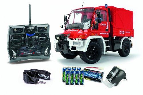 Carson 500707109 - 1:12 Unimog Feuerwehr 100% RTR, Modellbau