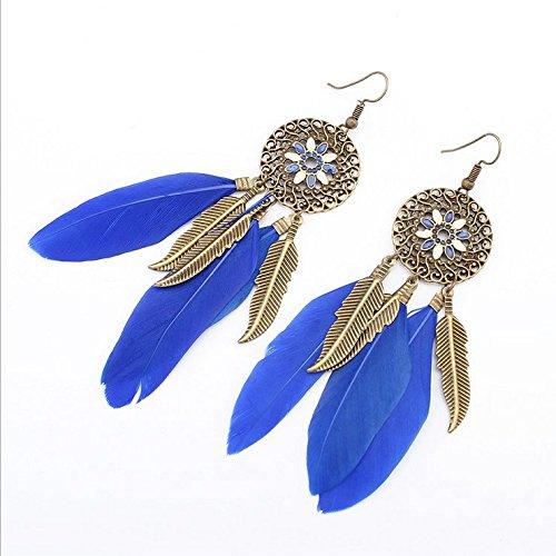 xrq-aretes-largos-vidriado-coloreado-plumas-sedas-aretes-moda-femeninaazul-pendientes