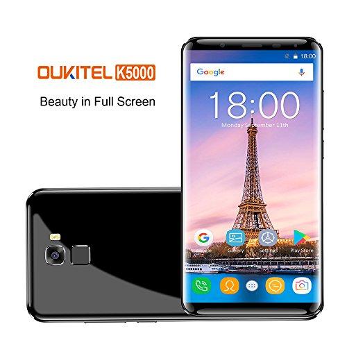 Oukitel K5000 Smartphones Libres (relación 18: 9)4G Android 7.0 , 4G RAM 64G ROM Octa Core,Dual Sim,5000mAh batería 9V...
