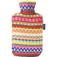 Wärmflasche, Wärmflasche Mit Abdeckung 2L Indische Ethnische Art Gestrickte Abdeckung Abnehmbare Reinigung Komfort... preisvergleich bei billige-tabletten.eu