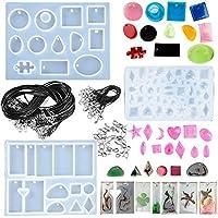 70pcs Moldes Silicona Resina para Hacer Joyerias Collar Pendiente Fabricación de Colgante Creativo Bricolaje DIY +