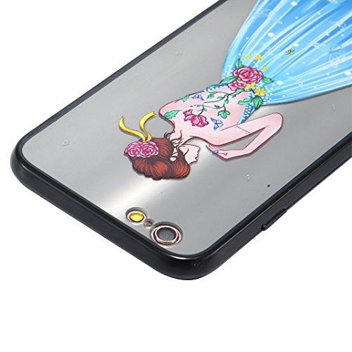 Coque iPhone 6 Plus Case, Silicone Housse iPhone 6S Plus apple Case Rosa Schleife® Etui iPhone 6 Plus TPU Gel de Silicone Ultra mince Cas Transparente Housse de Protection Back Cover Protective Shell  5-Style