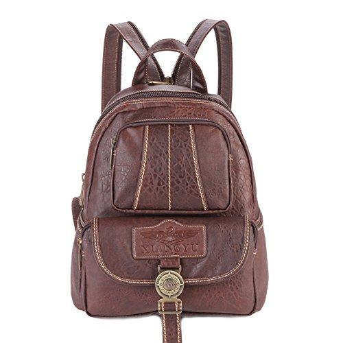 Lycailcy  LYC-Lycailcy-80293-5, Sac à main porté au dos pour femme Marron Light Brown(9.3 x 5.5 x 11.8 inches) taille unique Dark Brown(9.3 x 5.5 x 11.8 inches)