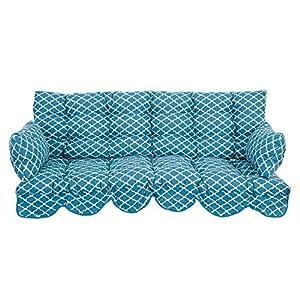 PATIO Auflagen Set Bora 170 cm für Hollywoodschaukel Polsterauflage Sitzkissen Rückenkissen Seitenkissen Gesteppt H032…