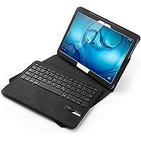 Jelly Comb Huawei MediaPad M3 Lite 10.1 Tastatur Hülle, Bluetooth Keyboard Case Trennbare Wiederaufladbare QWERTZ Tastatur für Huawei Tablet M3 10,1 Zoll, Schwarz