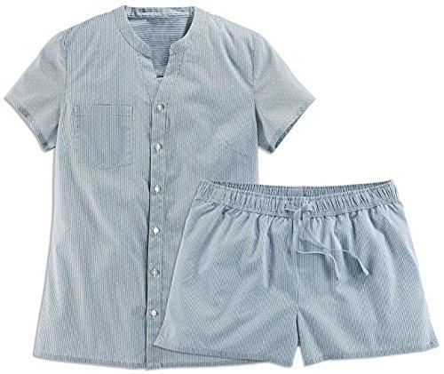 TCM Tchibo Damen Kurz Schlafanzug Shorty Pyjama Biobaumwolle (36/38 S) (Flanell Schlafanzüge Kurze)