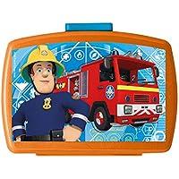 Preisvergleich für p:os 26361099 - Brotdose Premium, mit Einsatz, Feuerwehrmann Sam, ca. 16 x 12 x 6,5 cm