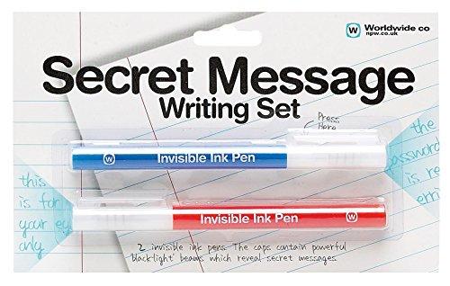 NPW Bolígrafos de tinta invisible con kit de luz UV - Juego de escritura secreta, dibuja y colorea