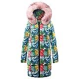 Komfort-warme Mäntel, HUYURI Frauen Baumwolle Lange unten Pelz-Kragen-mit Kapuze Parka-Jacke