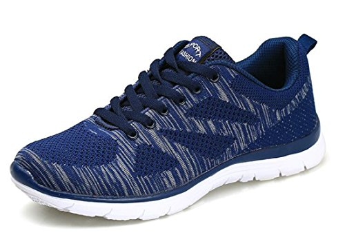 Men's Shock Absorption Breathable Outdoor Running Shoes Navy