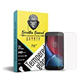 Gorilla guard's Pro series tempered glass for Moto G4 Plus + with HD+ ultra clear edge to edge 9H hardness, UV protect & anti-smudge technology TEMPERED glass phone protector