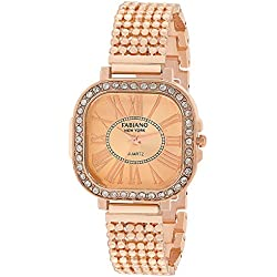 Fabiano New York Rose Gold Analog Wrist Watch (For Womens and Girls)