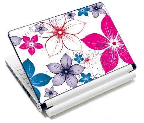 MySleeveDesign Notebook Skin Aufkleber Folie Sticker für Geräte der Größe 10,2 Zoll / 11,6 - 12,1 Zoll / 13,3 Zoll / 14 Zoll / 15,4 - 15,6 Zoll mit VERSCH. DESIGNS - Pink Flowers