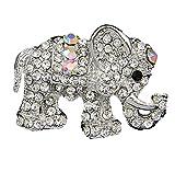 Hosaire 1x Damen Brosche Silber Farbe Elefant Form Design Damen Deko Broschen Mantel Hemd Deko Brosche Schmuck Zubehör Brooch