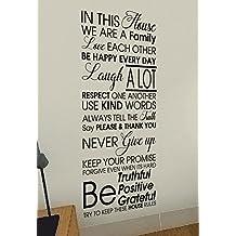 In questa casa–casa di famiglia vita Love Quote Vinile Parete Adesivi Decalcomanie art decor fai da te