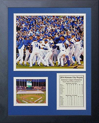 Legenden Sterben Nie 2014Kansas City Royals ALCS Champions Celebration gerahmtes Foto Collage, 11x 35,6cm