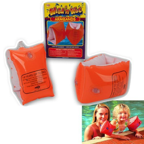 CHILDRENS KIDS INFLATABLE SAFETY SWIMMING ARMBANDS...