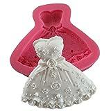 Karen Baking Forma vestito silicone 3D muffa della torta del fondente che decora per la torta